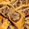 Сырный рулет с белыми грибами