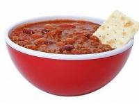 Овощной суп с красной фасолью.